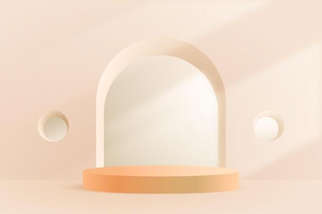 Fondo de podio 3d abstracto