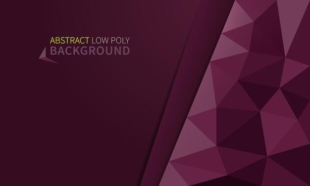 Fondo de poli baja rosa moderno abstracto