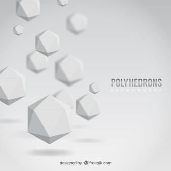 Fondo de poliedros blancos