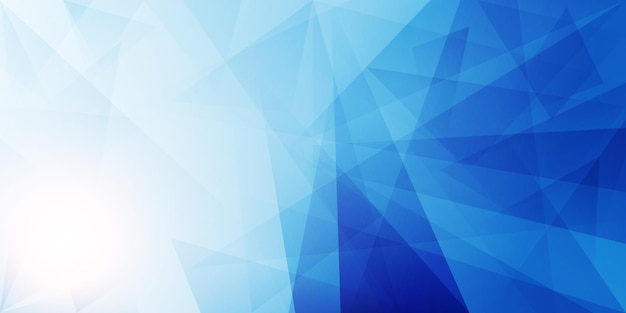 Fondo poligonal abstracto azul