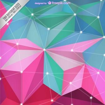Fondo poligonal abstracto para descarga gratuita