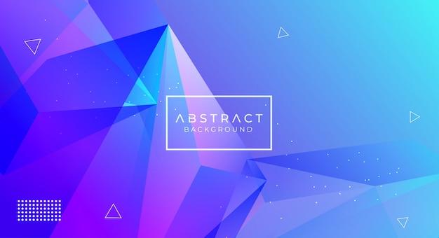 Fondo poligonal abstracto moderno