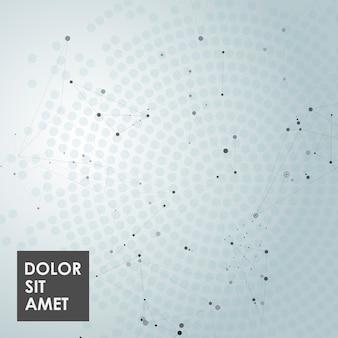 Fondo poligonal abstracto con puntos de conexión, líneas y lugar para texto