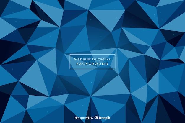 Fondo poligonal azul oscuro