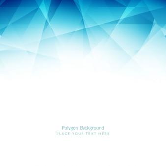 Fondo poligonal azul