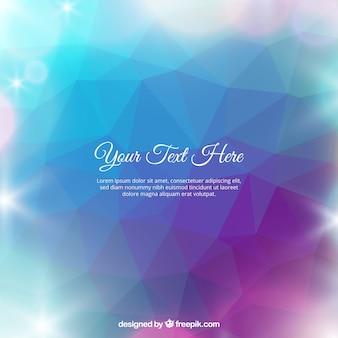Fondo poligonal brillante
