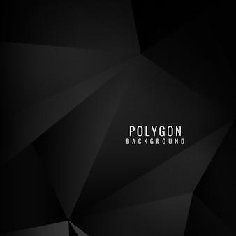 Fondo poligonal, color negro
