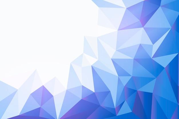 Fondo poligonal de diseño plano