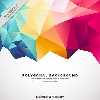 Fondo poligonal con formas coloridas
