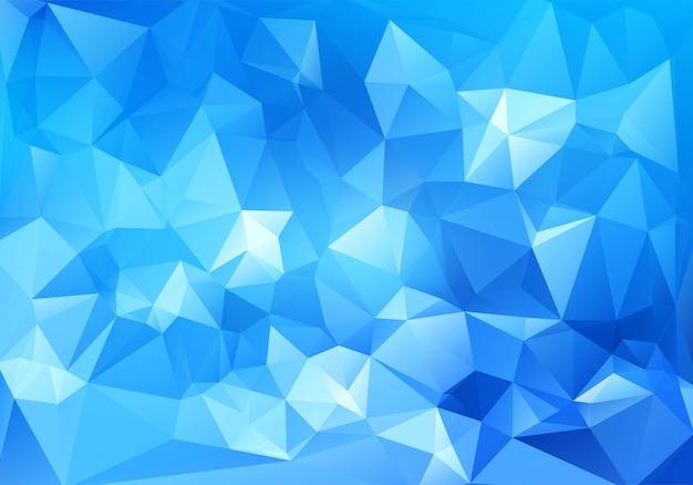 Fondo poligonal geométrico azul abstracto