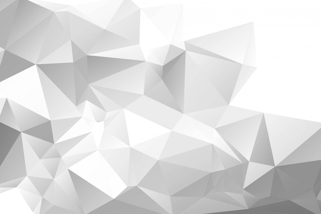 Fondo poligonal geométrico gris claro abstracto