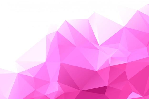 Fondo poligonal geométrico rosado abstracto