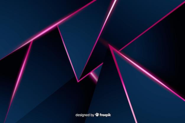 Fondo poligonal lujo oscuro