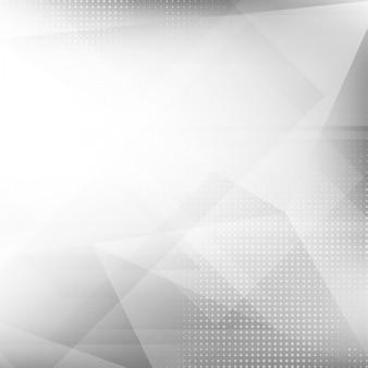 Fondo poligonal luminoso gris