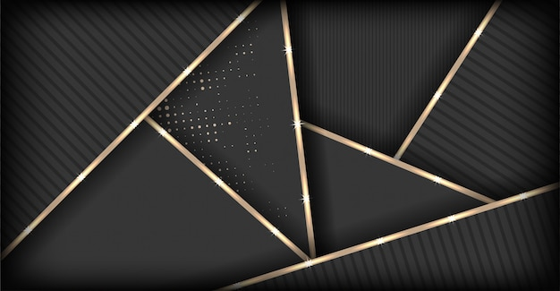 Fondo poligonal marrón oscuro de lujo abstracto