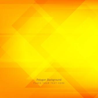 Fondo poligonal moderno brillante en color amarillo