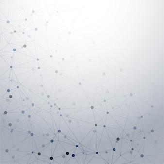 Fondo poligonal moderno de tecnología gris