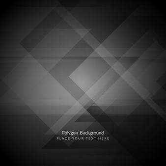 Fondo poligonal negro