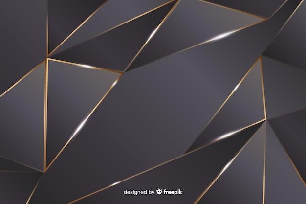 Fondo poligonal oscuro de lujo