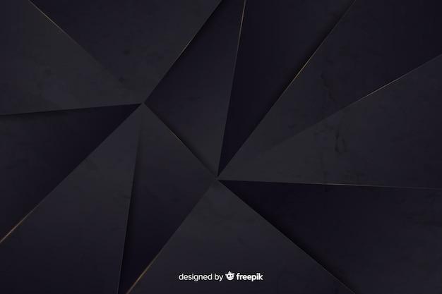 Fondo poligonal oscuro realista