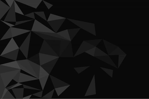 Fondo poligonal oscuro