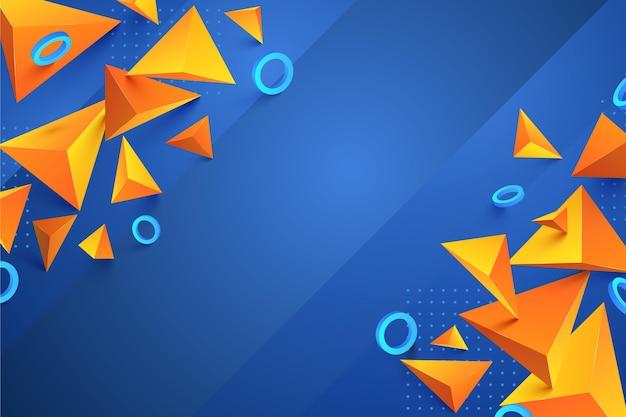 Fondo poligonal realista con círculos