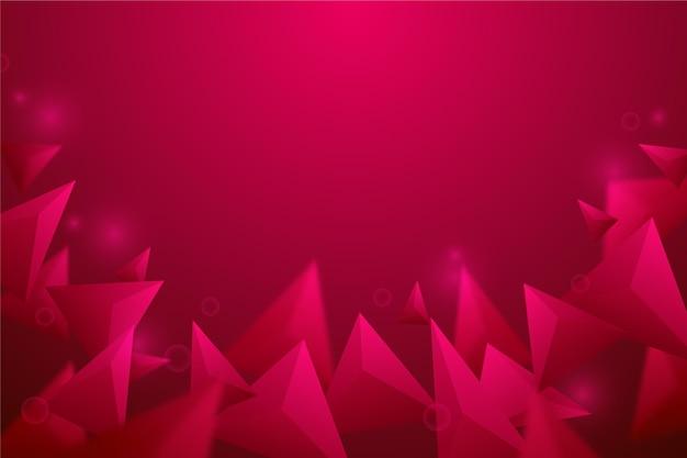 Fondo poligonal rojo realista