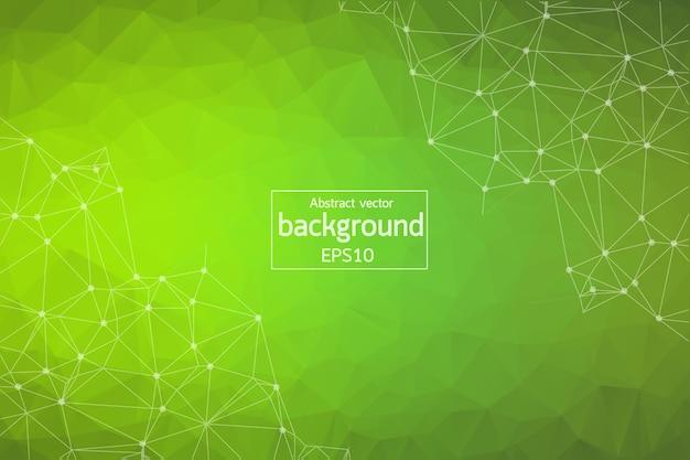 Fondo poligonal verde geométrico