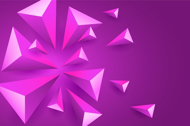 Fondo poligonal violeta 3d