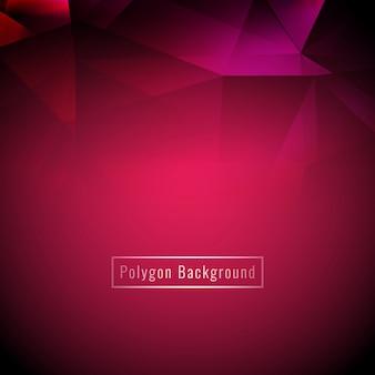 Fondo de polígono geométrico colorido elegante abstracto