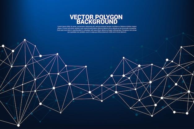 Fondo de polígono de puntos de conexión de red