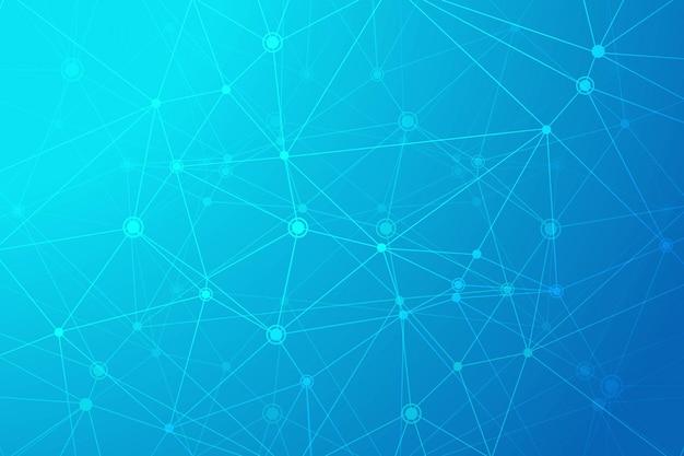 Fondo de polígono de tecnología digital