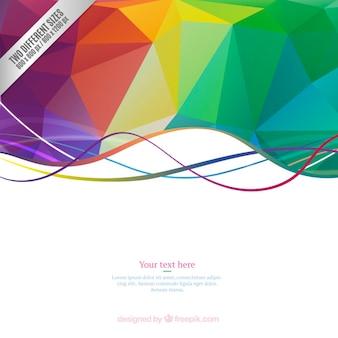 Fondo de polígonos coloridos