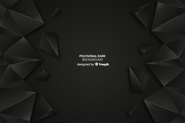 Fondo con polígonos oscuros
