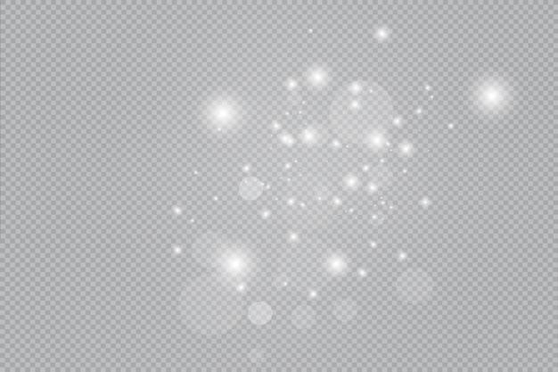Fondo de polvo dorado, chispas y estrellas