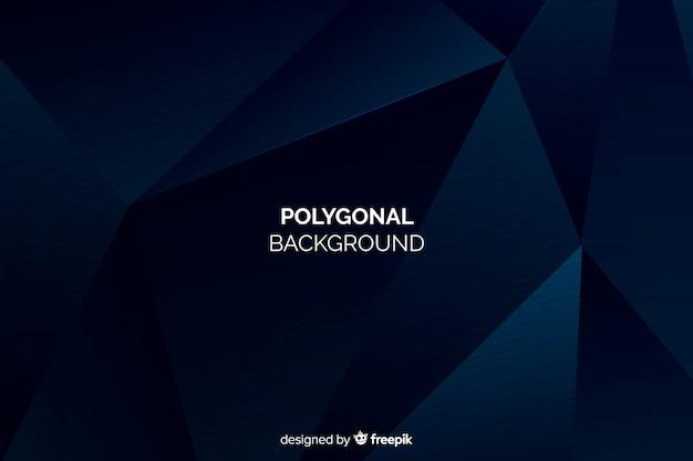 Fondo polygonal azul oscuro