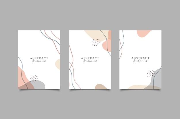 Fondo de portada minimalista abstracto
