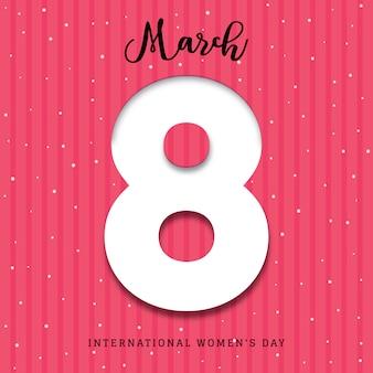 Fondo del póster 3d del día internacional de la mujer.