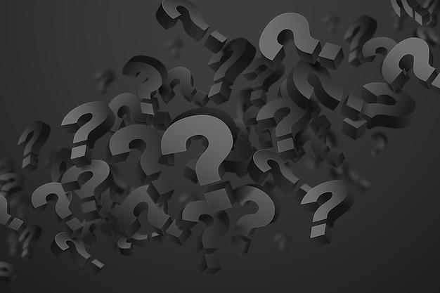 Fondo de pregunta de efecto 3d