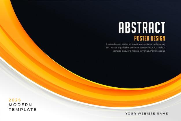 Fondo de presentación abstracto amarillo y negro