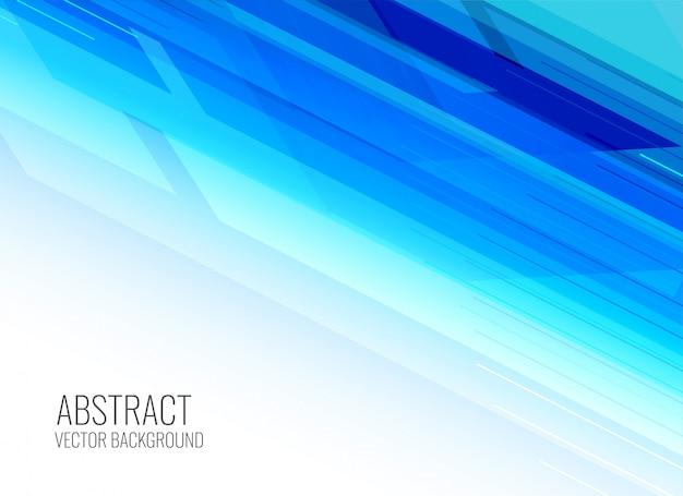 Fondo de presentación azul brillante abstracto