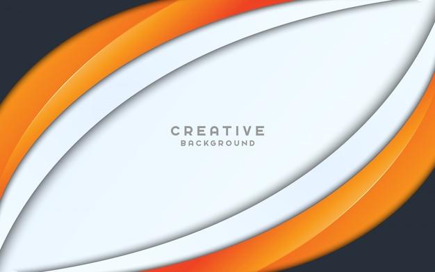 Fondo de presentación de onda creativa.