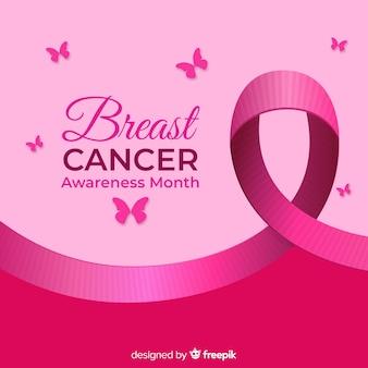 Fondo prevención cáncer de mama mariposa