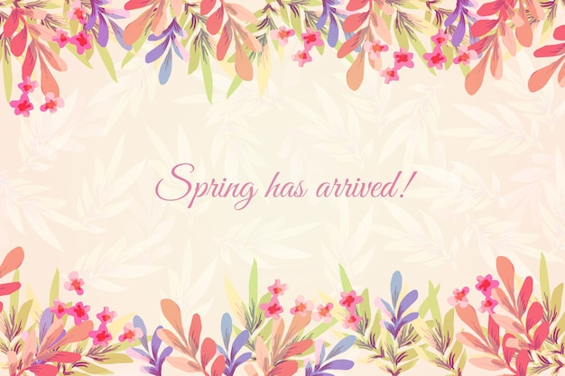 Fondo de primavera acuarela con flores