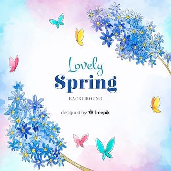 Fondo de primavera en acuarela