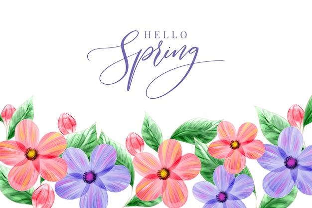 Fondo de primavera acuarela