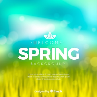Fondo de primavera borroso