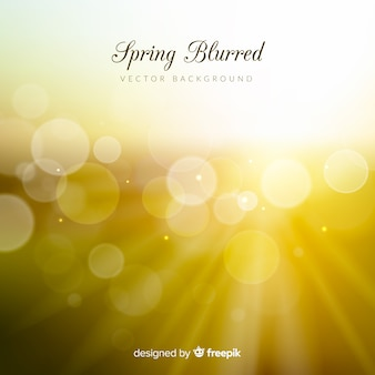 Fondo primavera borroso