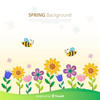 Fondo primavera campo de flores