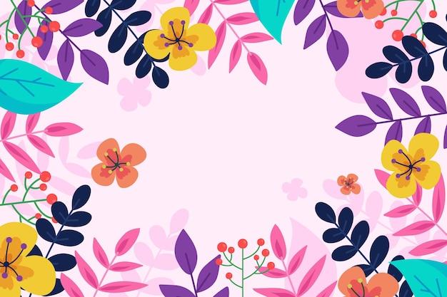 Fondo de primavera colorido plano
